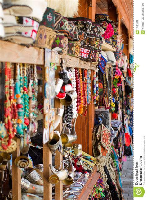 souvenirs market  tbilisi georgia stock photo image