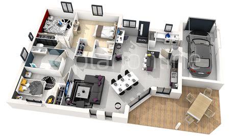 plan maison 120m2 3 chambres plan de maison moderne 3 chambres 3d maison moderne