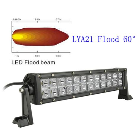 13 5 quot 72w cree led light bar 60 degree flood light