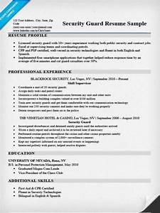 Security guard resume sample writing tips resume companion for How to write a resume for security guard job