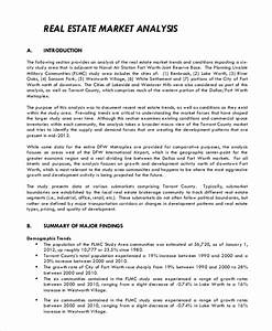 sample comparative market analysis 9 examples in pdf word With real estate cma cover letter