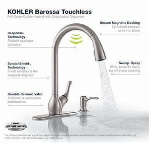 Kohler Barossa With Response Touchless Technology Single