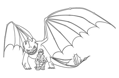 hiccup  night fury coloring pages  kids printable