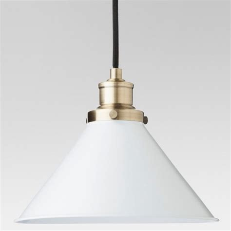 Target Lights by Crosby Small Pendant Ceiling Light White L Only