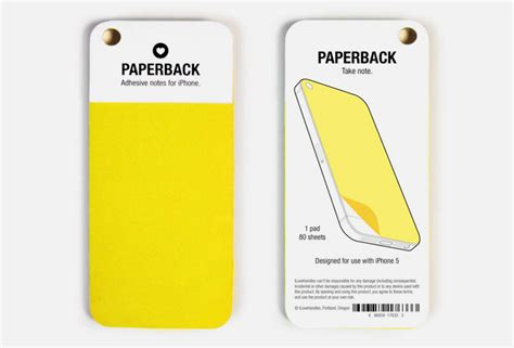 Adhesive Note Paperback Case For Iphone 5