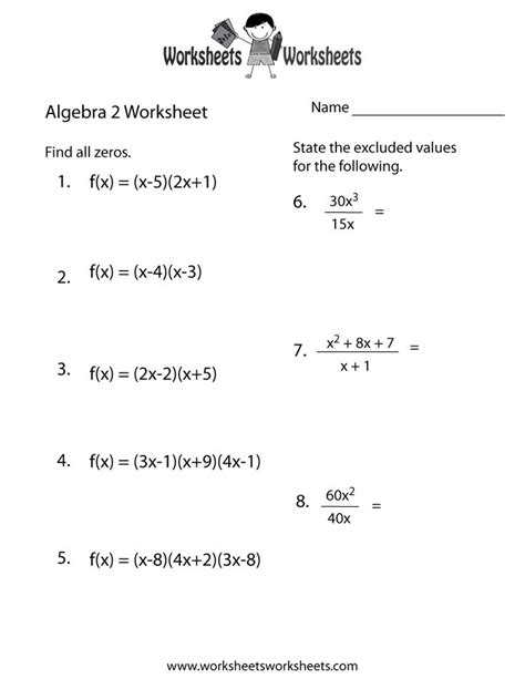 10 best algebra worksheets images on algebra