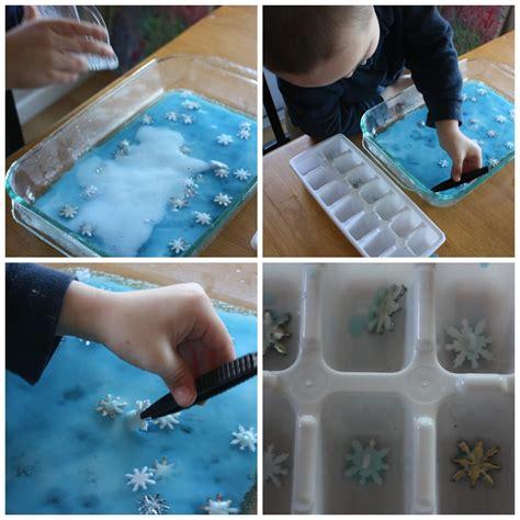 winter snowflake baking soda science experiment saturday 323   winter snowflake baking soda science fine motor