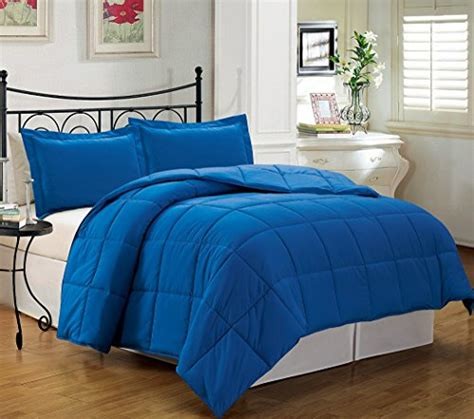 royal blue comforter chezmoi collection 3 alternative comforter set