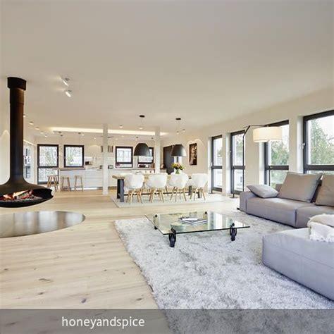 wohnzimmer mit offener küche loft bauhausstil wohnen haus wohnzimmer und wohnzimmer modern