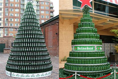 heineken christmas bottle a beery cool material