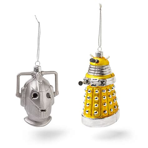 doctor who figural ornaments thinkgeek