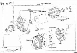 Toyota Camry Alternator Assembly  Remanufactured