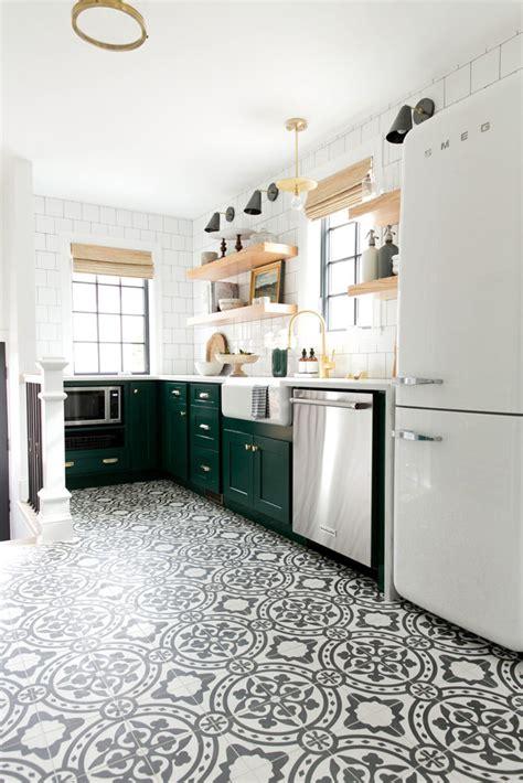 patterned kitchen floors