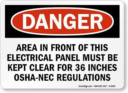 Electrical Panel Sign Osha Battery Danger Safety