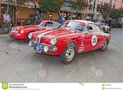Classic Race Cars by Alfa Romeo Giulietta Sprint Veloce 1961 Editorial Image