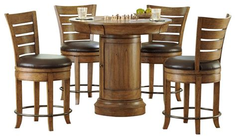 round bar table and chairs hammary furniture hammary hidden treasures 5 piece round