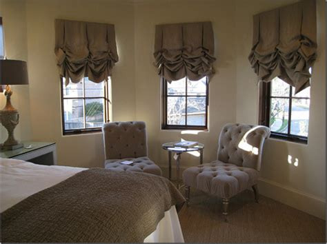 balloon shades for bedroom beautiful bay window treatments photo gallery
