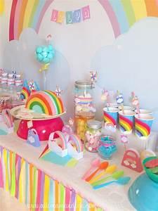 Anniversaire 18 Ans Deco : la sweet table d co d 39 anniversaire arc en ciel les photos allo maman dodo ~ Preciouscoupons.com Idées de Décoration
