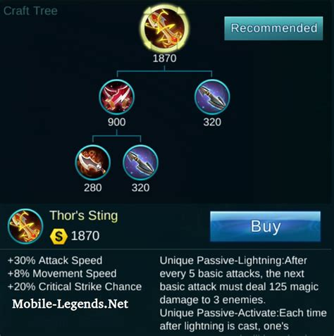 mobile legends items moskov attack items build 2019 mobile legends