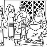 Coloring Synagogue Jesus Teaching Getdrawings sketch template