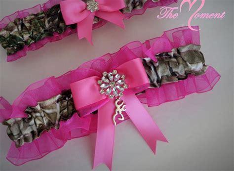 Pink Realtree Camo Garter Set In 2019 Pink Camo Wedding