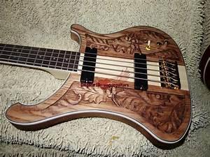 New 5 Strings 4003 Bass Guitar Wood Manual Sculpture
