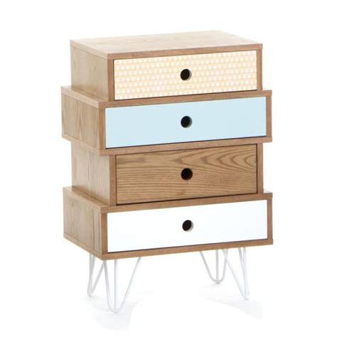 chambre esprit scandinave meuble commode 4 tiroirs esprit scandinave coloris