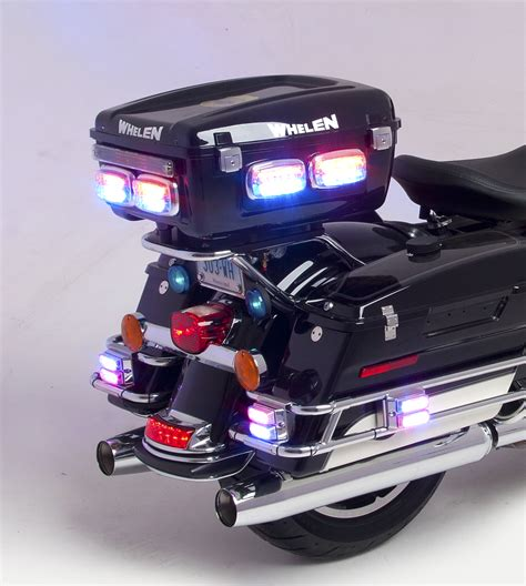 Whelen Motorcycle Box With M4 Led Police Lights Fleet Safety