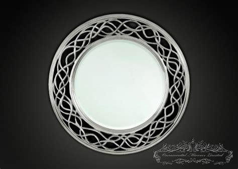 waves  circle silver  mirrors  ornamental