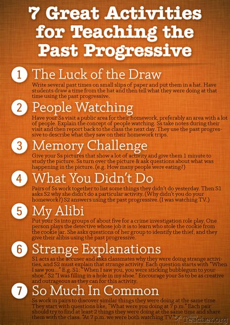 great activities  teach   progressive poster