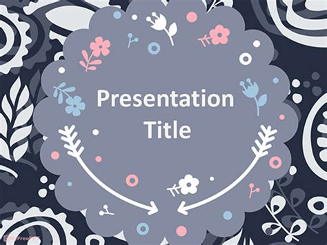 scrapbook style floral background powerpoint template