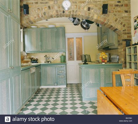 green kitchen floor green white checkerboard floor in kitchen extension with 1409