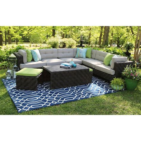 Patio Furniture Upholstery by Ae Outdoor 7 All Weather Wicker Patio