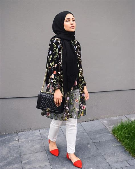 wear  floral outer  hijab outfit hijab stylecom