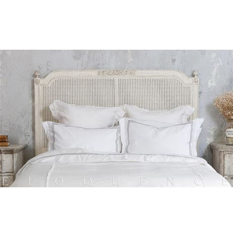 Antique White Headboards by Eloquence 174 Blanka King Headboard In Antique White