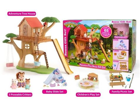 calico critters adventure tree house gift set w furniture 682 | s l1000