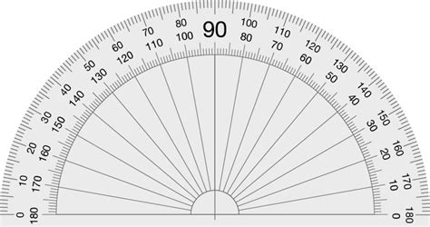 printable protractor    degrees source