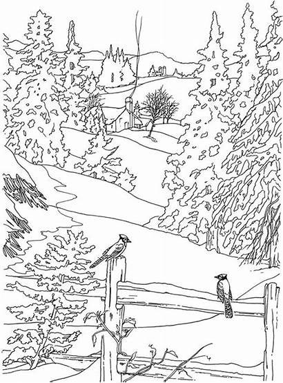 Coloring Pages Outdoor Scene Printable Christmas Getcolorings