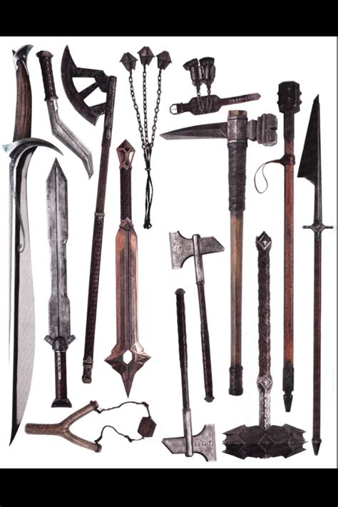 The Hobbit Dwarve Armor Template by Dwarf Weapons From The Hobbit Hobbit Arsenal