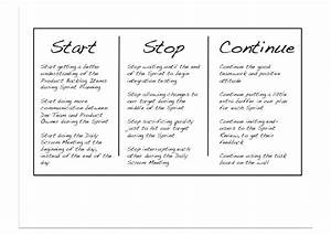start stop continue template - introduction to agile scrum