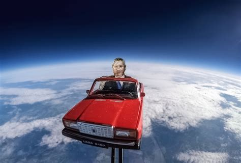 russian scientists send effigy  space  toy car