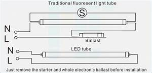 Direct Wire T8 Led Tube Retrofit Ballast Bypass T12