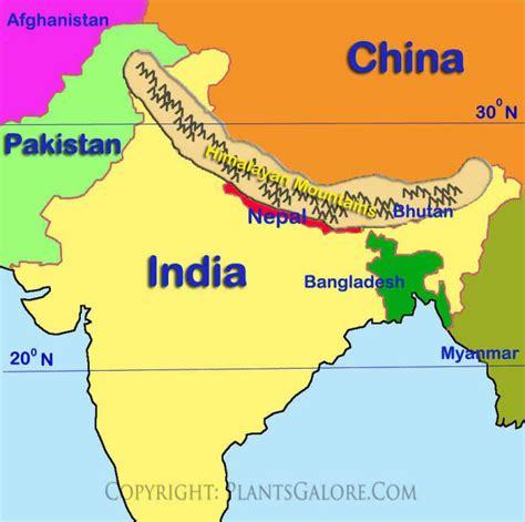 image gallery himalayan mountains map