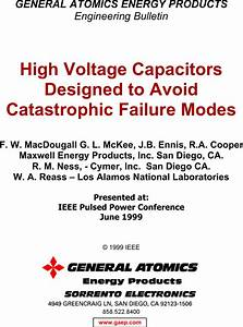 Capacitor Failure Modes