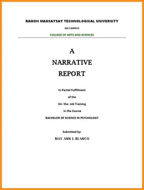 Narrative Resumen by 4 Ojt Narrative Report Sle Pdf Parts Of Resume