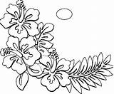 Hawaiian Coloring Hawaii Pages Flower Flowers Drawing Printable State Printables Luau Shirt Themed Template Clipart Getcolorings Suddenly Az Awesome Native sketch template