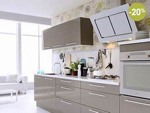 cuisine fly blanche taupe et rouge a prix canon With lovely couleur peinture taupe clair 18 cuisine marron ikea