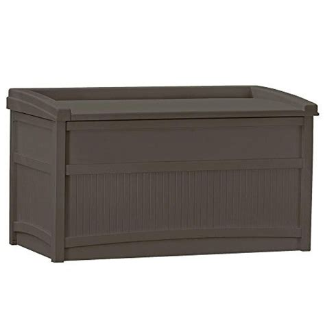 suncast outdoor patio 50 gal storage resin deck box