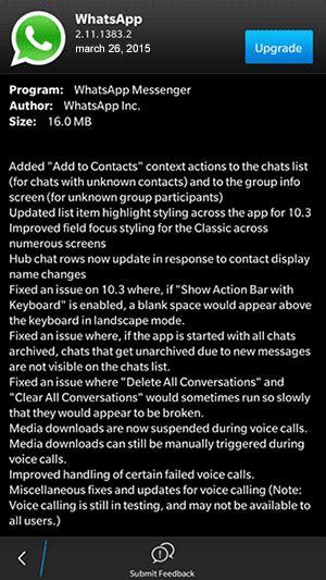 whatsapp 2 11 1383 2 blackberry 10 beta version