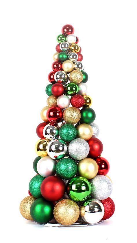 decorative christmas ball tree christmas